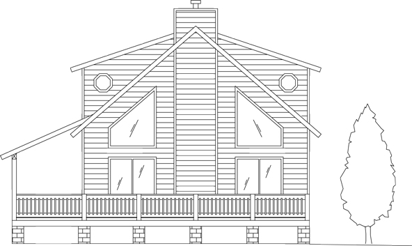 The Spruce Chalet - Our popular two story model featuring a garden tub, loft, wood 