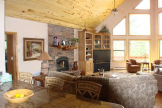 Photo Gallery Living Room With Vaulted Ceiling And Fireplace